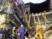 A girl died in a building collapse on  March 14 evening in Rangoon. Photo:  Mizzima