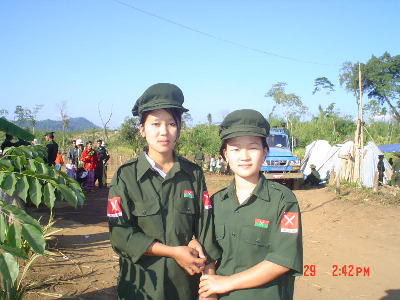 Present day women soldiers working for a development project in Hsa Don Township