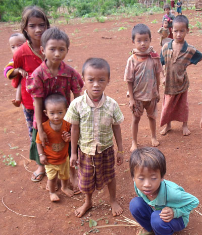 Children living in Dawtamagyi village-tract