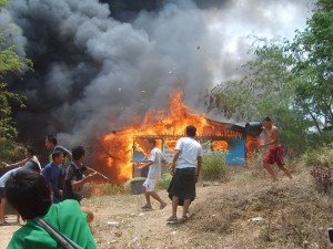 Mae-La-bible-school-on-fire-300x225