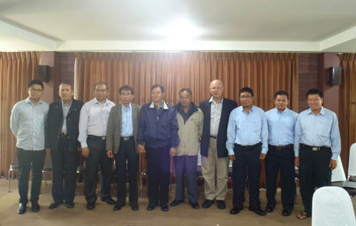 U Aung Min with KNPP delegation in February (Photo: KNPP)