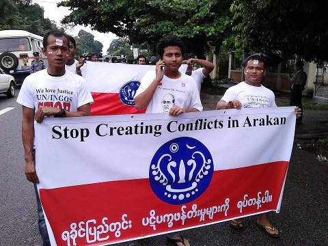 Arakanese-protest-yangoon