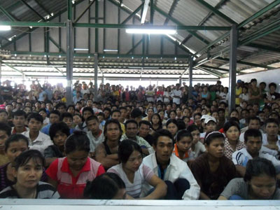 Legal migrant workers are on strike in this file photo taken in a factory in Khon Kaen, Thailand, early this year. Photo: Mizzima