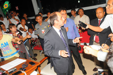 UN human rights envoy to Burma, Tomas Ojea Quintana at Yangon Airport. Photo: Mizzima