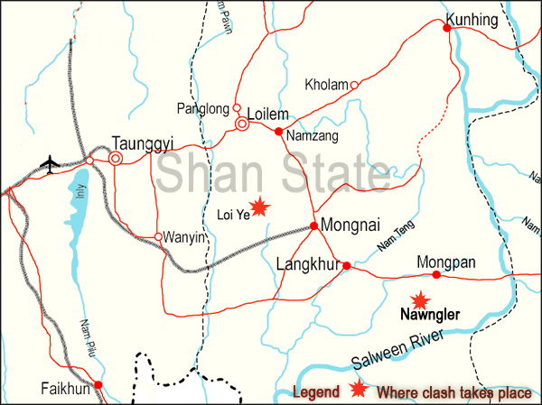 Latest fighting in Shan State South