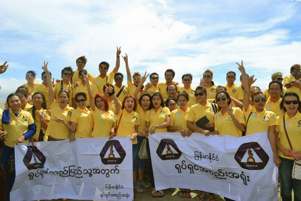 Burmese Motion Picture Association Team on relief aid tour to Maungdaw