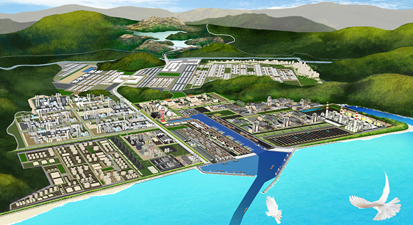 An artist's rendering of the Dawei Special Economic Zone in Burma. Photo: daweidevelopment.com