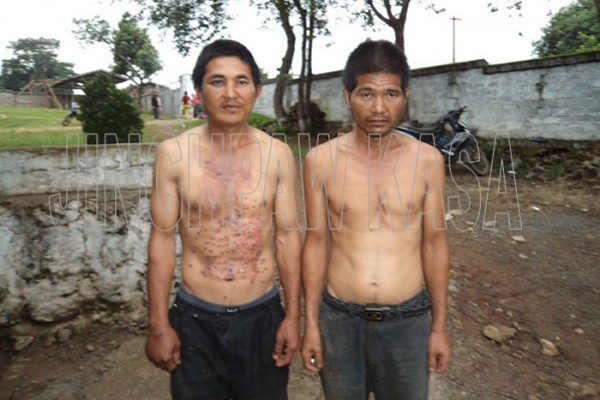 Jau Fa Ying, a Chinese villager of Yi Hku was arrested and tortured by Burmese government troops on July 1.