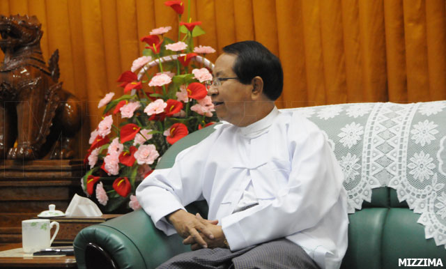 Burmese Minister of Information and Culture Kyaw Hsan Photo: Mizzima