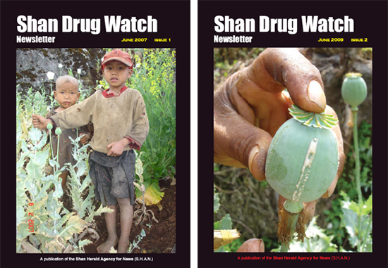 Cover: Shan Drug Watch issue 1 and 2