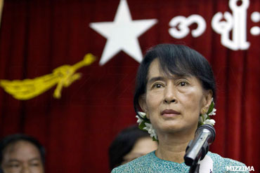 Burmese democratic opposition leader Aung San Suu Kyi Photo: Mizzima