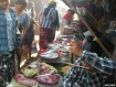 Buyers and sellers seen at a market in Kothaung Bazaar, in Prome town of Pegu Division, on February 22, 2009. Photo – Mizzima. Local residents and poultry-farm owners said close to 9,000 chickens had died recently, from a new bird disease known as Viscerotropic Velogenic Newcastle.