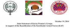 Karen Women's Groups Support Reunification of Ethnic Armed Forces